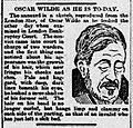 "Pitiful sketch of ""Oscar Wilde As He Is Today"" from Edinburgh Evening News, 14 November 1895.jpg"