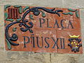 Placa de la plaça Pius XII - Igualada.JPG