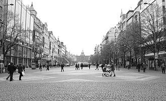 Wenceslas Square - Václavské náměstí - Wenceslas Square, Prague, January 2014