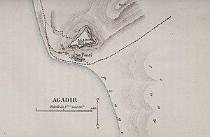 Plan d'Agadir en 1885