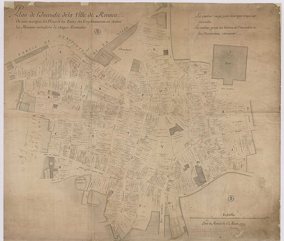file plan de l 39 incendie de la ville de rennes isaac robelin 1722 jpg wikimedia commons. Black Bedroom Furniture Sets. Home Design Ideas