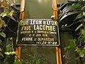 Plaque rue Léon de Lyon - Paul Lacombe - Cervelle de canut.JPG
