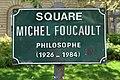Plaque square Michel-Foucault, Paris 5e.jpg