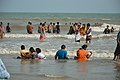 Playful People with Sea Waves - New Digha Beach - East Midnapore 2015-05-01 8712.JPG