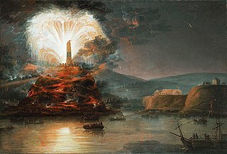 Fireworks in honor of Catherine II in 1787