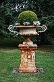 Plinth urn planter at Easton Lodge Gardens, Little Easton, Essex, England 04.jpg