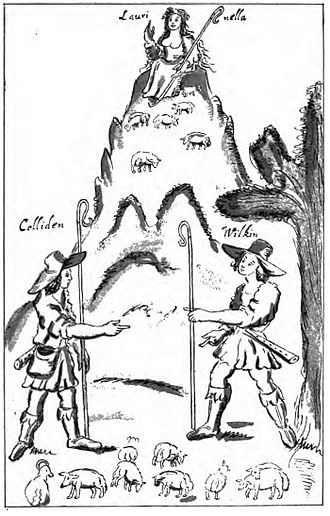 William Basse - drawing of shepherds reproduced in the Poetical Works of William Basse, possibly by Basse himself