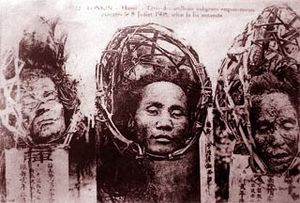 Hanoi Poison Plot - Heads of executed plotters displayed in public