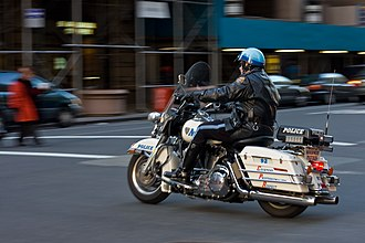 Police motorcycle - NYPD Highway Patrol Police motorcycle in Manhattan