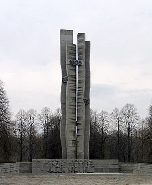 Revolution in the Kingdom of Poland (1905–07) - Łódź monument to the 1905 insurrection