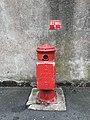 Pompe à incendie et sa plaque (Villefranche-sur-Saône, France).JPG