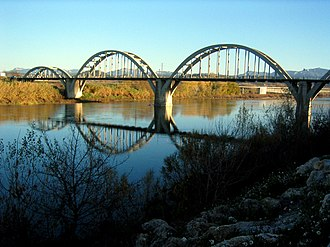 Arch - A series of parabolic arches on the Móra d'Ebre bridge, Catalonia