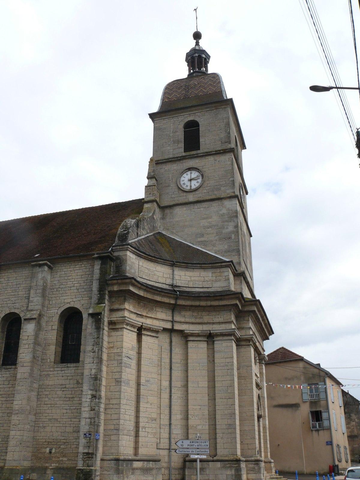 Glise saint tienne de port sur sa ne wikip dia for Notaire port sur saone