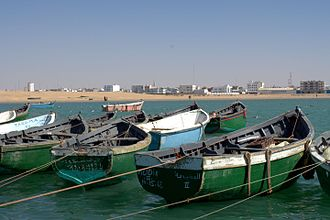 El Marsa, Western Sahara - Fishing port of El Marsa
