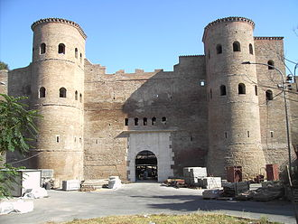Aurelian - The Porta Asinara, a gate in the Aurelian Walls.