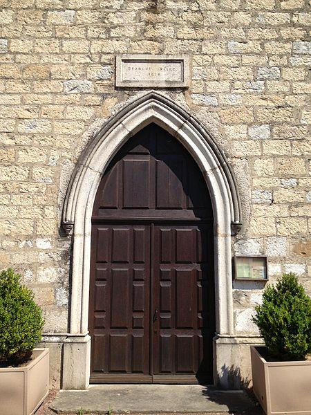 Porte de l'église Saint-Jean-Baptiste de Saint-Jean-de-Niost.