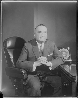 Portrait of FBI Director J. Edgar Hoover. (no ...