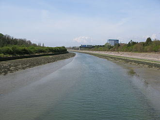 Portsbridge Creek - Part of Portsbridge Creek with the tide half in