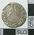 Post-Medieval Coin , Halfgroat of Henry VIII (obverse) (FindID 577259).jpg