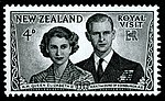 Postage Stamp Depicting Queen Elizabeth II and Prince Philip 1953 (11457019104).jpg