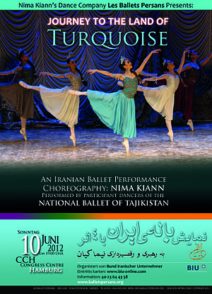 Les Ballets Persans - Journey to the Land of Turquoise. National Ballet of Tajikistan performing the repertoire of Les Ballets Persans on its first appearance in the West after the fall of Soviet Union. Poster. 2012