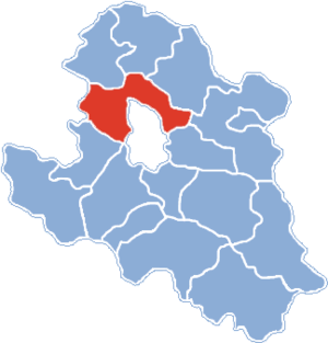 Gmina Chełmiec - Location of Chełmiec Commune on Nowy Sącz County map, Poland.