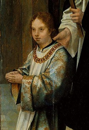 Luís of Portugal, Duke of Beja - Luís in the Triptych of the Infantes; by the Master of Lourinhã, 1516.