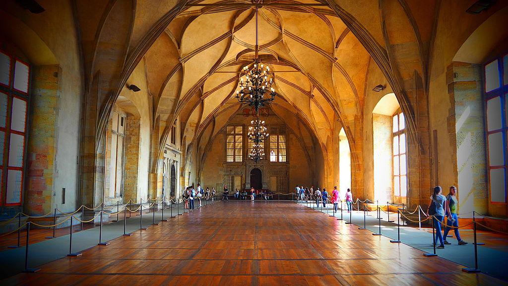Salle Vladislav dans le Palais Royal de Prague - Photo de Ștefan Jurcă