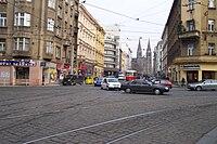 Praha, Vinohrady, Jugoslávská, od Tylova náměstí k náměstí Míru.jpg
