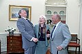 President Ronald Reagan with Mel Blanc and Estelle Blanc in the Oval Office.jpg