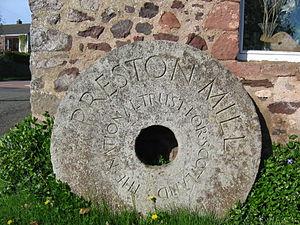 Preston Mill - Image: Preston millstone