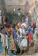 Preziosi - Vendors in the Covered Bazaar Istanbul 1851