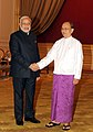 Prime Minister Narendra Modi and Myanmar President Thein Sein.jpg
