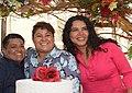 Primer matrimonio en registrarse en Ecuador luego de la aprobación del matrimonio civil igualitario - María Chávez y Michelle Avilés - Testigo Diane Rodríguez (1).jpg