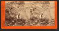 Primitive mining, the old rocker. C.E. Watkins posing as miner, by Watkins, Carleton E., 1829-1916.png