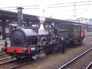 Charles Beyer - Prins August  The oldest working Beyer-Peacock locomotive in the world. Built Gorton Foundry 1856. Sweden
