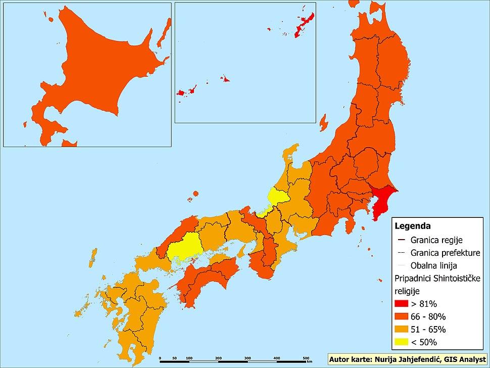 Pripadnici šintoističke religije u Japanu