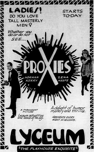 Proxies (film) - Newspaper ad