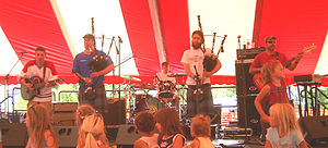 Prydein (band) - Prydein at the Detroit Highland Games (photo by Al Hall)