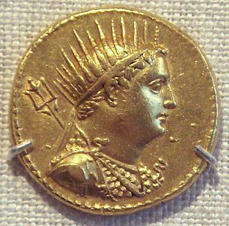 Ptolemaic Kingdom - Coin depicting King Ptolemy III. Ptolemaic Egypt.