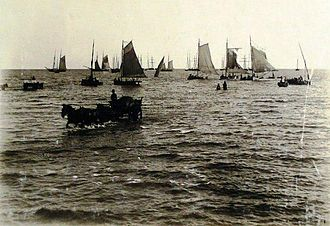Port of Buenos Aires - Boats anchored in the Port of Buenos Aires, circa 1880.