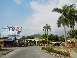 Pugo, La Union - Overlooking Pugo town center and welcome arch from the National Highway