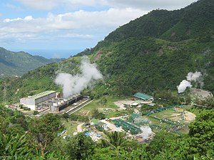 Valencia, Negros Oriental - Geothermal power station in Puhagan