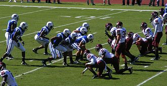 Long snapper - Image: Punt block formation