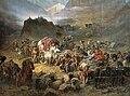 Pyotr Nikolayevich Gruzinsky - The mountaineers leave the aul.jpg