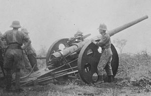QF 12 pounder 18 cwt naval gun - East Africa, circa 1916