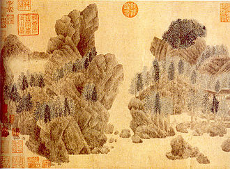 Qian Xuan - Dwelling in the Floating Jade Mountains (浮玉山居)