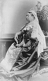 Queen Victoria in characteristic regalia.