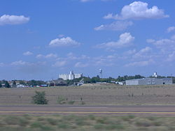 View of Quinter from Interstate 70