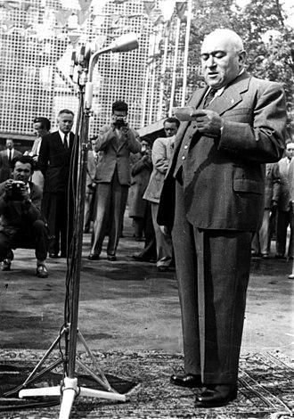 Hungarian Revolution of 1956 - Mátyás Rákosi speaks in Budapest, 1948